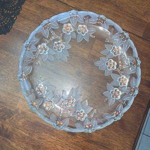"""Mikasa Carmen Frosted Crystal Serving Plate 12"""""""